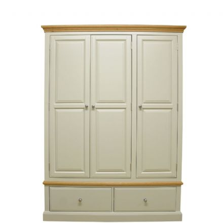Davenport Painted 3 Door 2 Drawer Wardrobe